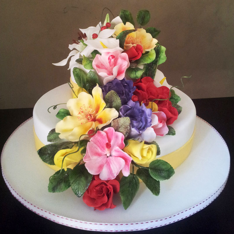 Birthday Flower Cake Bloomnet Image Inspiration of Cake and