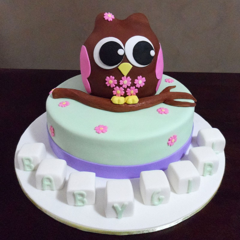 Owl Cupcakes For Baby Shower: Owl-Baby-shower-cake